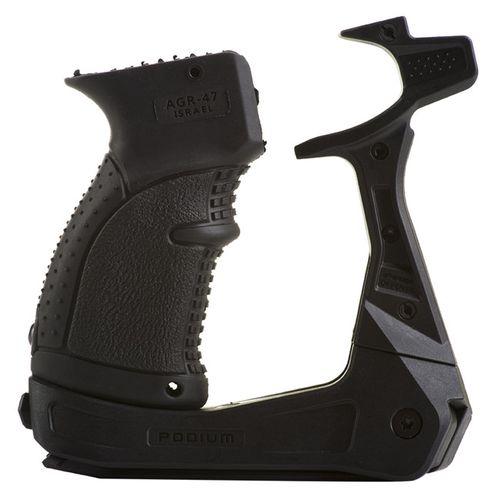 AK-PODIUM platforma s dvojnožkou pro zbraně typu AK-15 (včetně pistolové rukojeti)