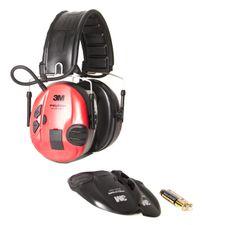 Chrániče sluchu Peltor SportTac Shooting červeno-černé