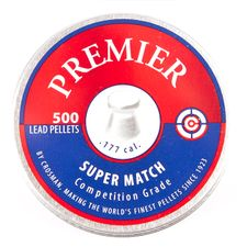 Diabolo Crosman Premier Super Match, 500 ks, kal. 4,5 mm (.177)