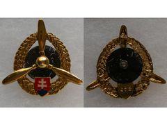 Odznak technického personálu letectví, zlatý
