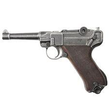 Plynová pistole Cuno Melcher P08 antik, kal.9mm