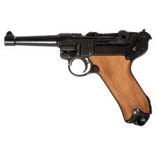 Replika pistole Parabellum Luger P08, Německo, dřevo