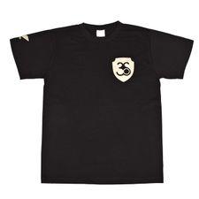 Tričko pánske s krátkym rukávom, farba čierna, zlaté logo