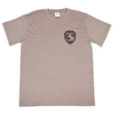 Tričko pánske s krátkym rukávom, farba šedá, černé logo