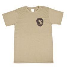 Tričko s krátkym rukávom, farba olivová,černé logo