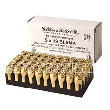 Expanzní střelivo Sellier & Bellot 9 x 19 Blank/50 ks