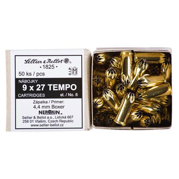 Jateční náboj 9 x 27 mm TEMPO st.6 / 50 ks
