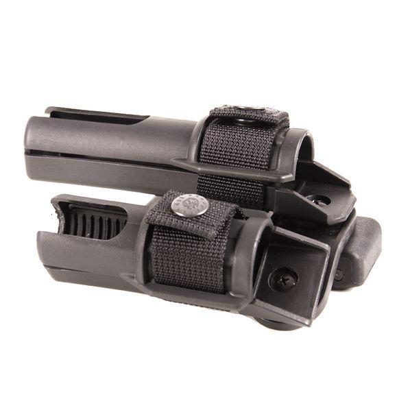 Plastové pouzdro pro obušek a svítilnu dvojité, rotačné BH-LH-15