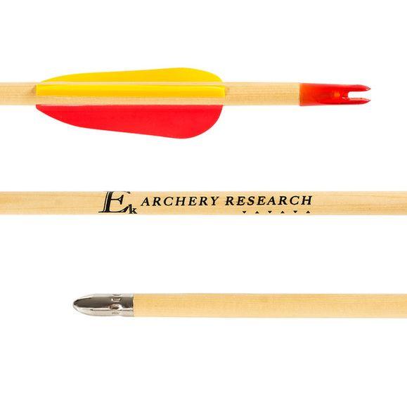 """Šíp dřevěný 24"""" terčový Ek Archery 1 ks"""