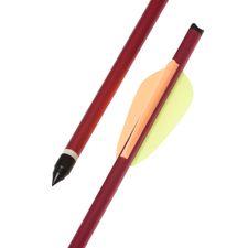 """Šíp duralový 14"""" HalfMoon Ek Archery, červený 1 ks"""