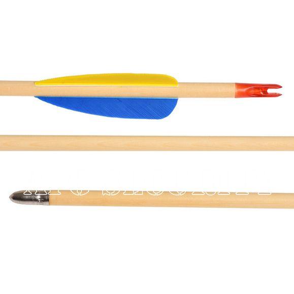 """Šíp dřevěný 27"""" terčový Ek Archery 1 ks"""
