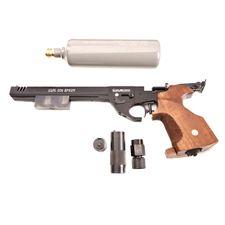 Vzduchová pistole Alfa Sport CO2 s kompenzátorem kal. 4,5 mm, černá